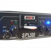 Плеър с Усилвател SPL 500MP3 blue LED + EQ BL 2 х 250W 4 Ohm