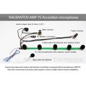 Система за озвучаване на акордеон Налбантов - 5 или 6 микрофона за вграждане