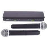 SHURE BLX288E/PG58 двоен, вокален, безжичен микрофон