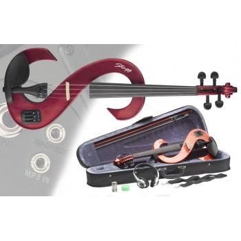 Stagg EVN 4/4 MRD Електрическа Цигулка Комплект