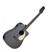 Stagg SA30DCE BK Черна електро акустична китара